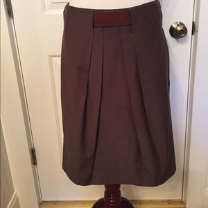 ⭐️GUNEX SKIRT PENCIL BROWN BELTED ITALY SIZE 6